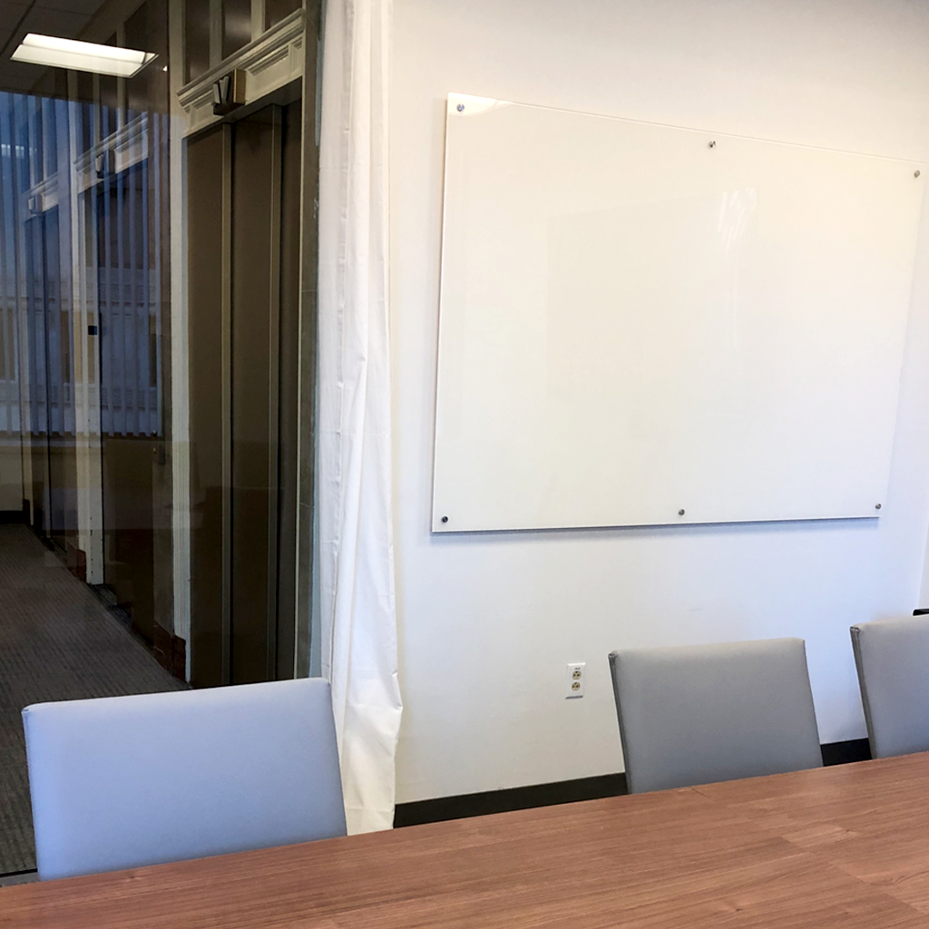 office glassboard installed by US Markerboard