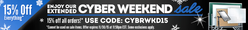 Cyber Weekend Sale - Save 15% with CYBRWKD15 Promo Code