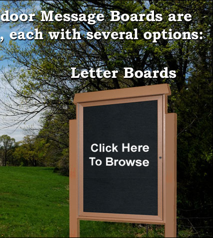 Park Ranger Series Letter Boards