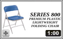 800 Series Premium Lightweight Folding Chair from National Public Seating